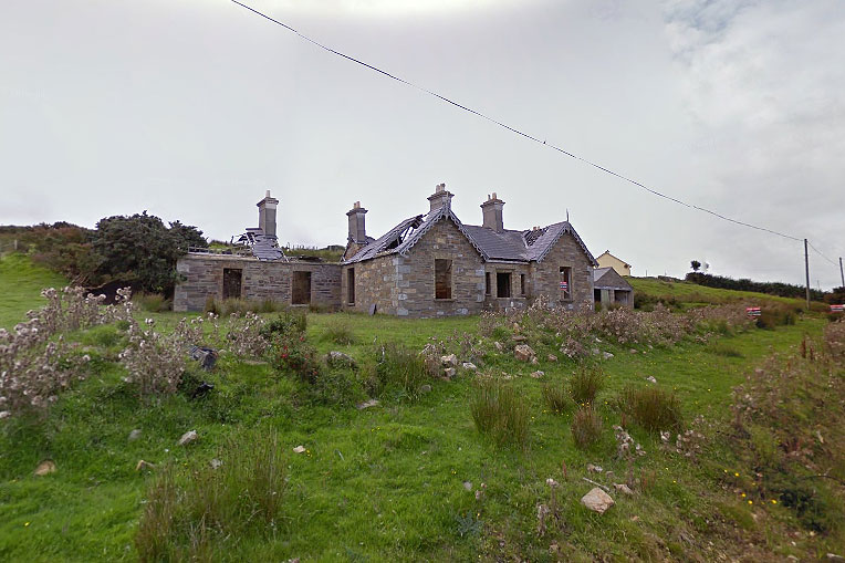Derelict Lodge For Sale: Glenlossera Lodge, Ballycastle, Co. Mayo