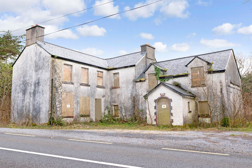 Derelict House For Sale: Caher House, Caher, Recess, Co. Galway